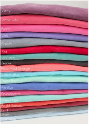 COMFORT COLORS POCKET T-SHIRT DESTASH (long & short sleeve)