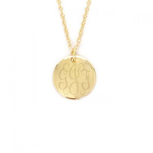 DISC NECKLACE TO MONOGRAM