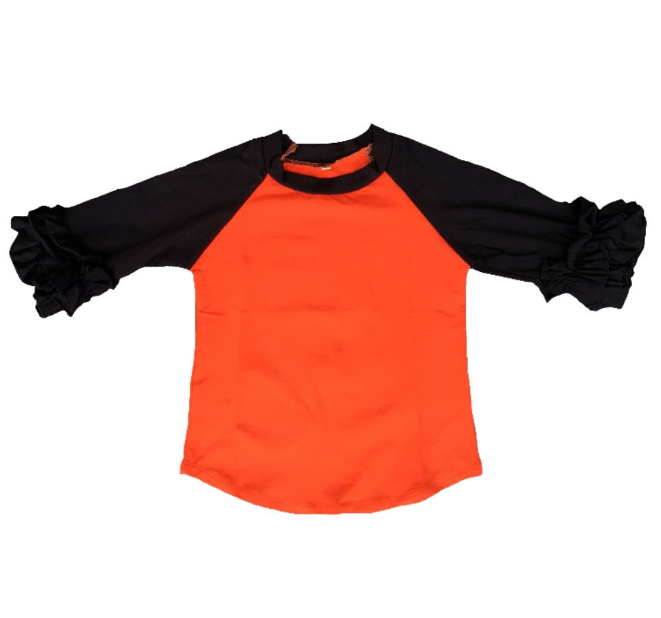 KIDS UNISEX AND RUFFLE HALLOWEEN RAGLANS
