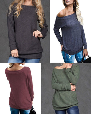 WIDE NECK TUNIC TOP