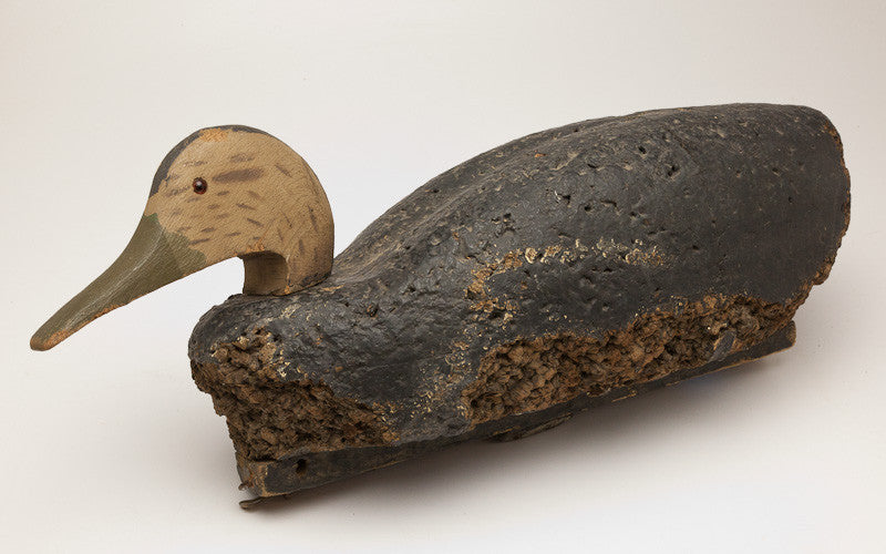 Phenomenal Antique Cork Decoy Duck - 31226