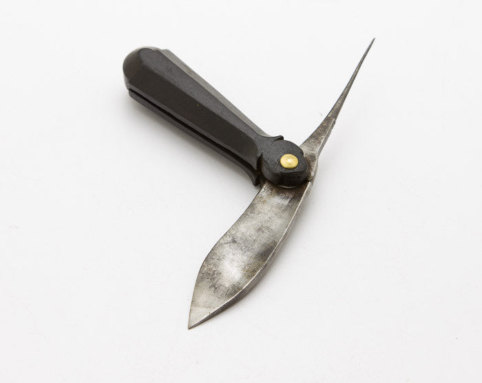 Stunning 18th Century Ebony Handled Fisherman's Knife