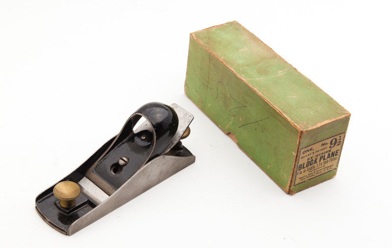 STANLEY EXCELSIOR No. 9 1/2 Block Plane Type 8 circa 1888-90 Superfine in its Original Green Box