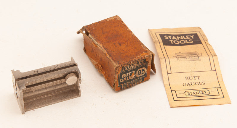 STANLEY NO. 95 Butt Gauge Minty in its Original Box