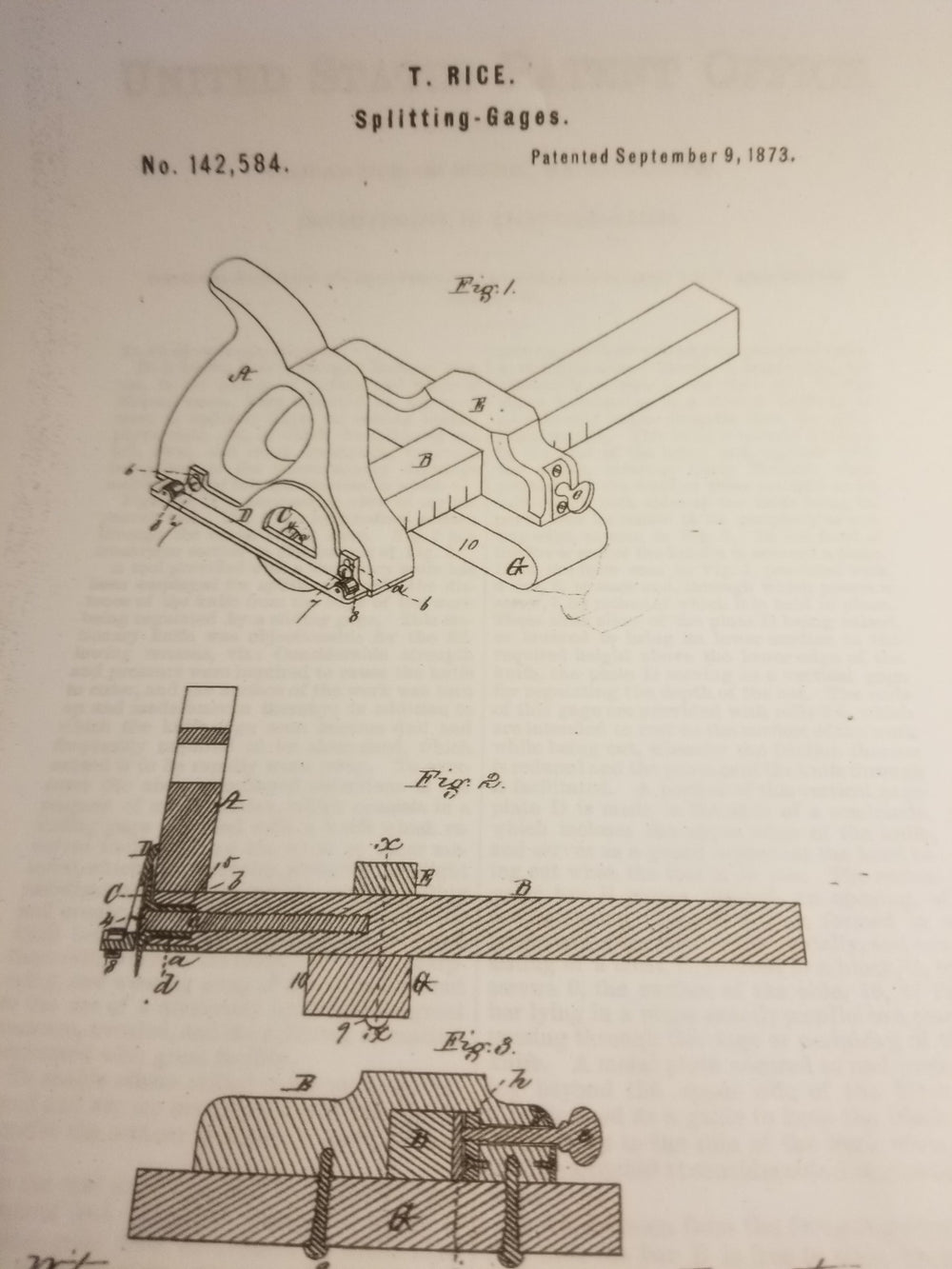 Fine RICE PATENT 14 1/2 inch Panel Slitting Gauge - 860021U