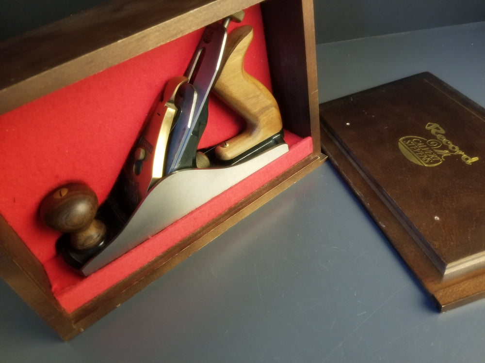 RECORD CALVERT STEVENS No. 88 Heavy Smooth Plane MINT in Original Wooden Box  - 90272