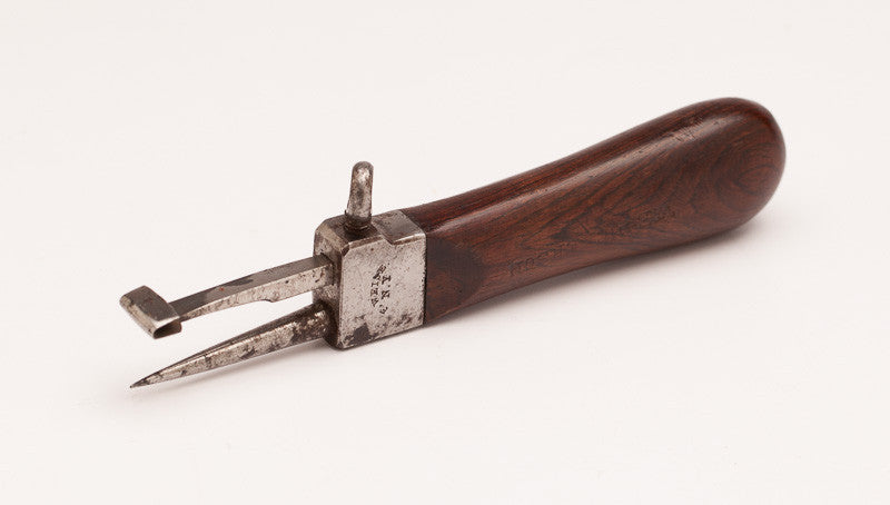 Rosewood-Handled 6 1/2 inch Race Knife by F. WEISE N.Y.