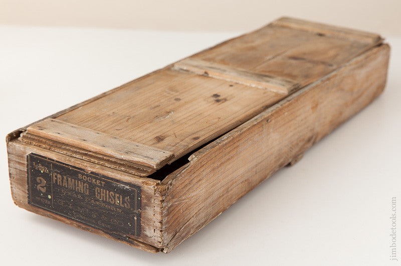 Wooden Box for G.I. MIX & CO. No. 2 Socket Framing Chisels