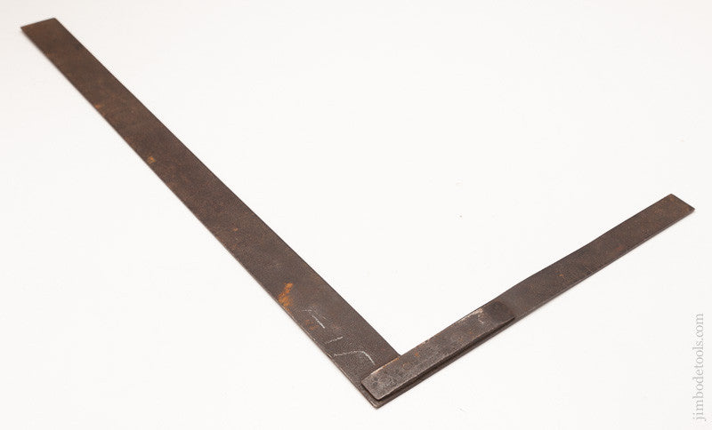 Early Hand Stamped Steel Framing Square