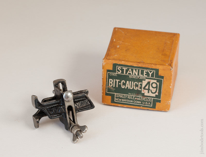 STANLEY NO. 49 Bit Gauge MINT in Original Box