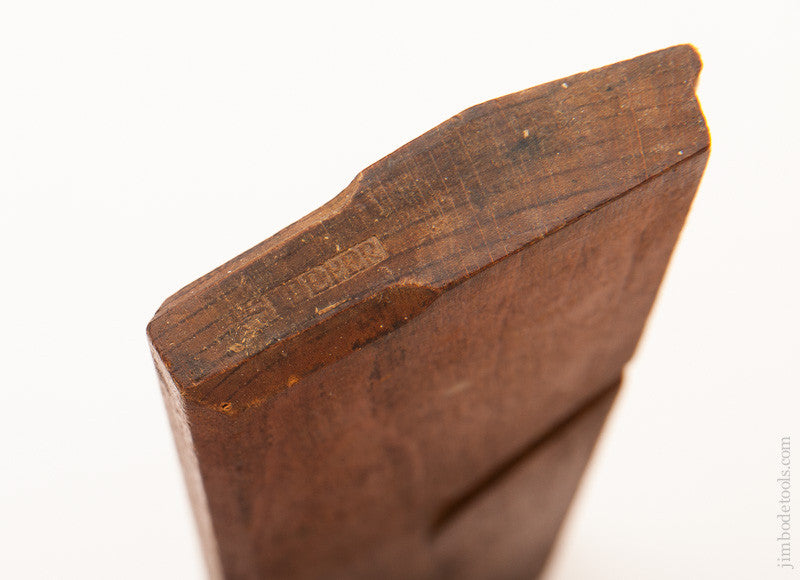 Rare! 9 3/4 inch Sash Coping Plane by I. SLEEPER Newburyport, MA circa 1780-92 - 58723U