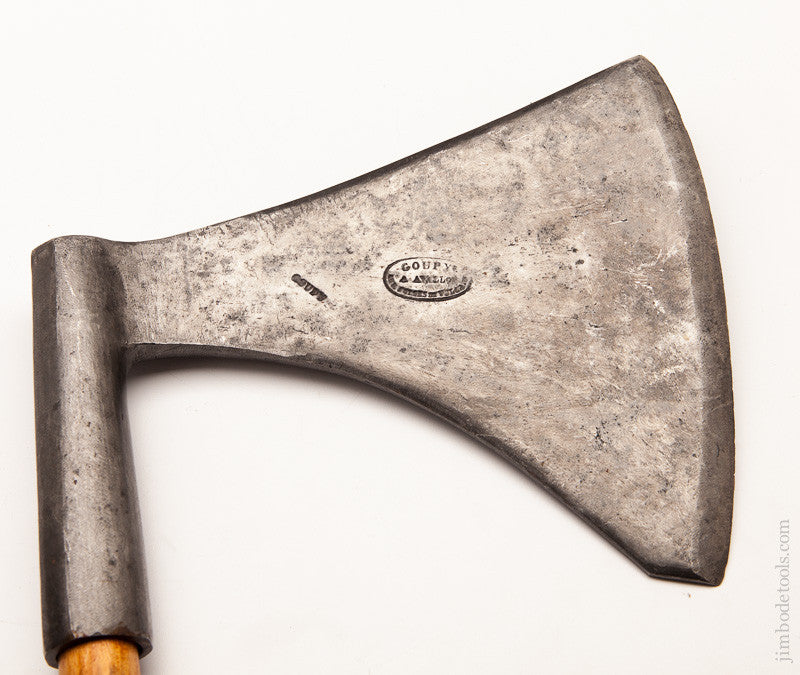 GOUPYE 18th Century Single Bevel Unusual Form Hewing Axe