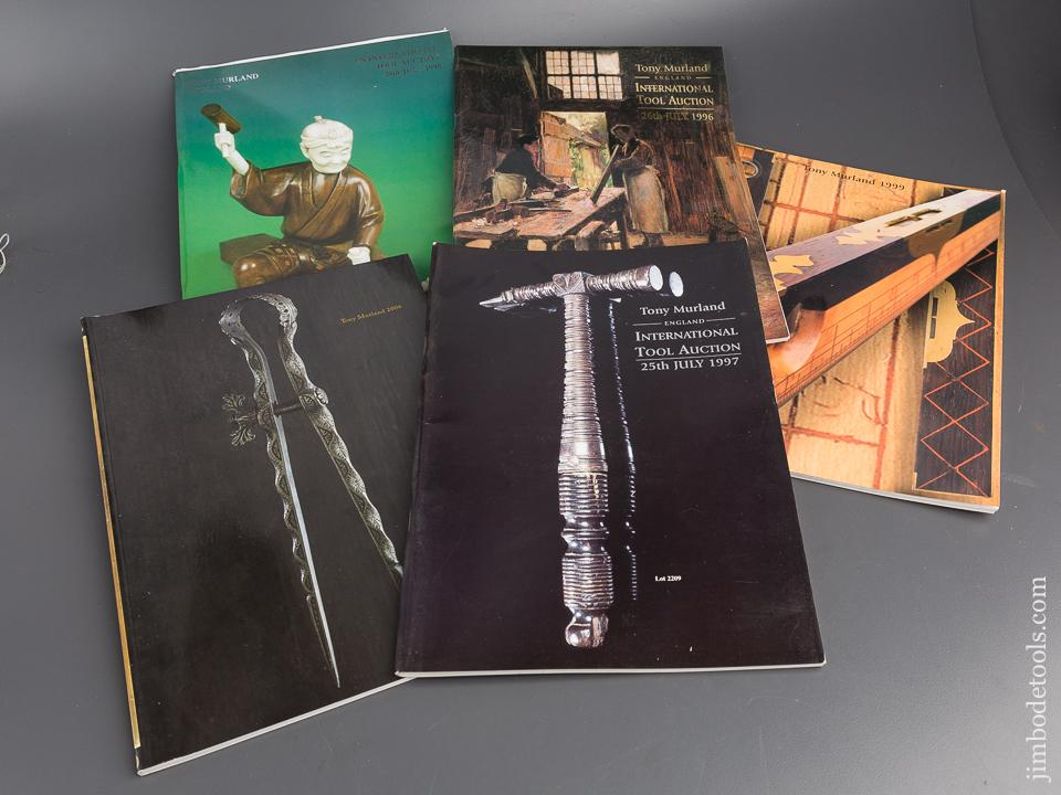 Lot of Five TONY MURLAND ENGLAND International Tool Auction Catalogues - 79845R