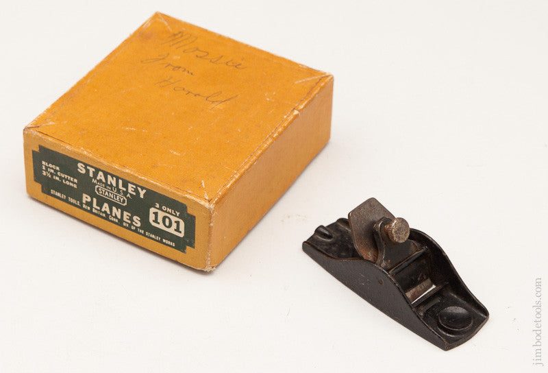 STANLEY No. 101 Block Plane in its Original Box