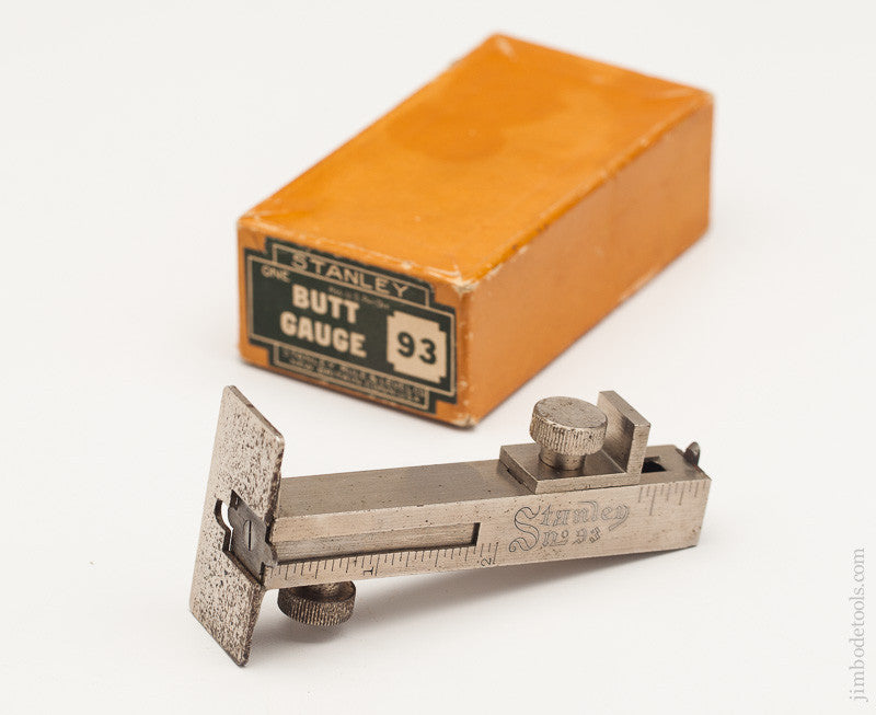 STANLEY NO. 93 Butt and Rabbet Gauge Mint in its Original Box