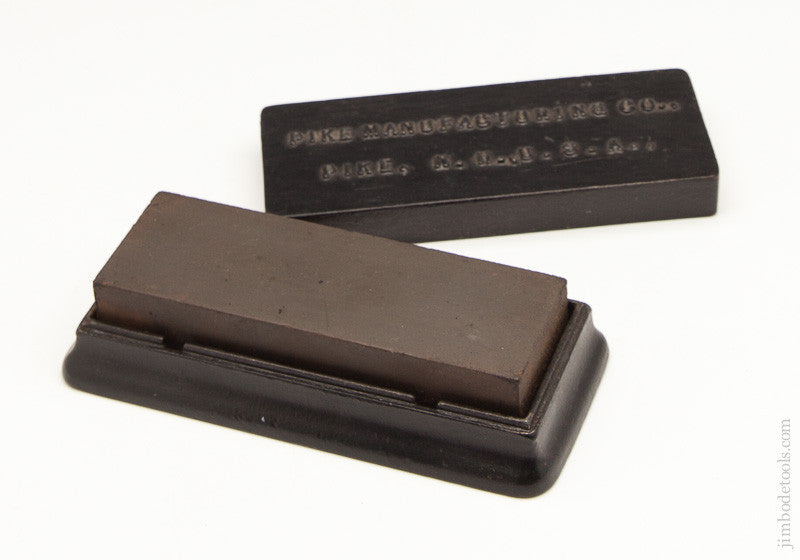 PIKE MANUFACTURING CO. Sharpening Stone in Cast Iron Holder