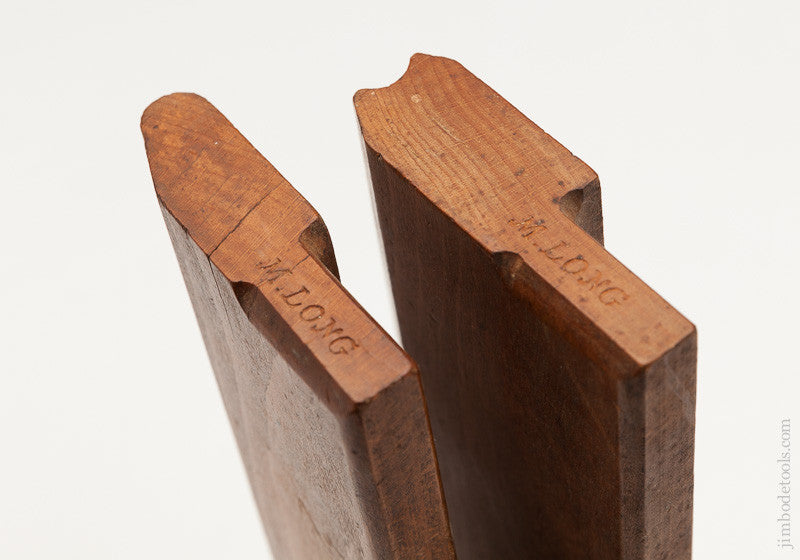 Pair of 5/8 Table Joint Molding Planes by M. LONG circa 1850