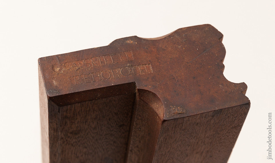 MINT! Ten inch Yellow Birch 8/8 inch Molding Plane by A' SMITH REHOBOTH circa 1791-1923