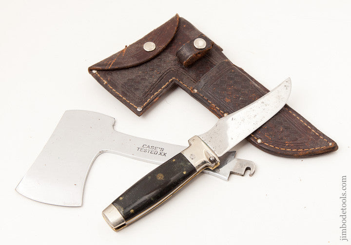 Awesome CASE Knife and Hatchet with Original 1935 Leather Sheath
