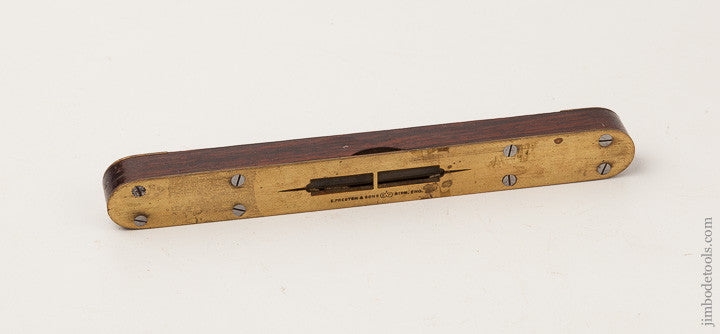 Fine 8 inch PRESTON Rosewood & Brass Level