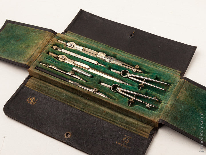 Terrific No. 1054 Draughting Set by SCHOENNER GERMANY in its Original Velvet Lined Case