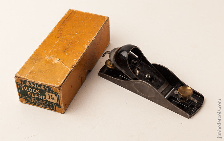 STANLEY No. 15 Block Plane MINTY in Original Box SWEETHEART