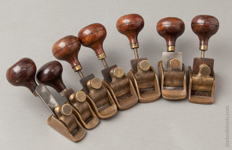 Comprehensive Set of Seven Rosewood Handled Violinmaker's Planes
