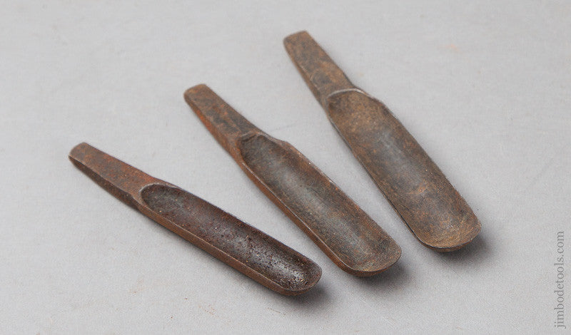 Set of Three 18th Century Chair maker's Spoon Bits by GLASCOTT