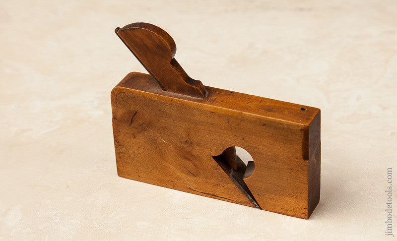 Miniature 4 x 5/8 inch Boxwood Skewed Rabbet Plane
