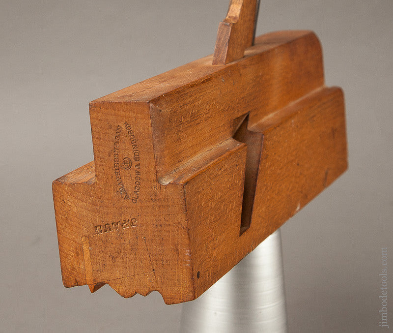 Awesome 2 1/2 inch Double Iron Crispy Complex Moulding Plane by A. MATHIESON & SON GLASGOW & EDINBURGH circa 1854-1900 E