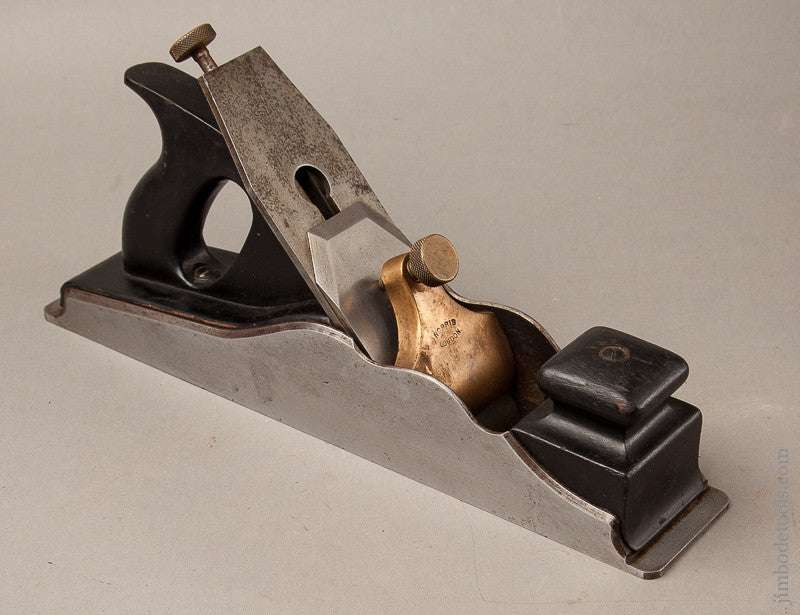 Clean 14 1/2 inch NORRIS A1 Jointer Plane with Full Original 2 1/2 inch NORRIS Iron