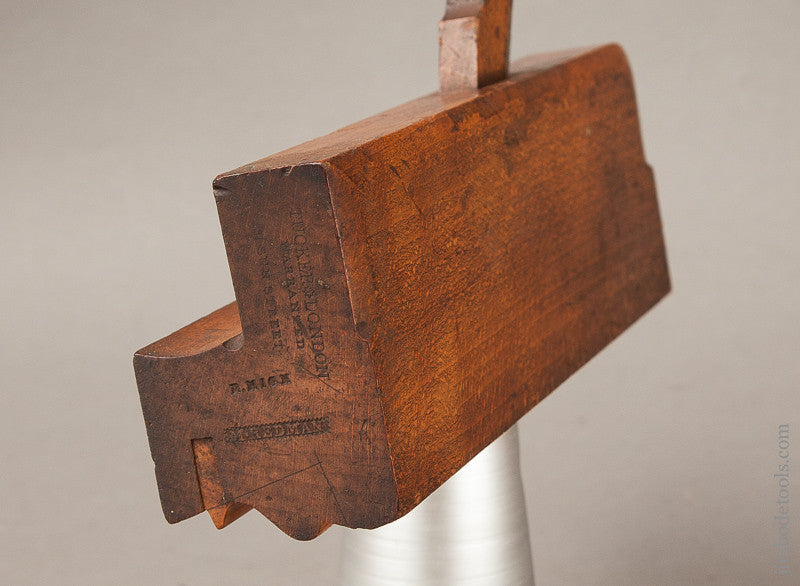 2 3/8 inch Wide Complex Moulding Plane by TUCKER 31 SUN STREET LONDON circa 1833-53