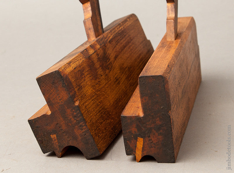 Extra Crisp and Fine Pair of User Side Bead Moulding Planes by VARVILL & SONS LTD YORK circa 1873-1904