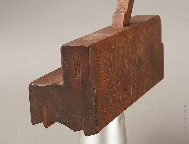 Extra Fine 2 5/8 inch Wide Crispy Complex Moulding Plane by S. LUNT LIVERPOOL circa 1823-1843