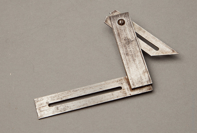 Patented 3 1/4 inch Try Square and Bevel by H.M.M LTD. ENGLAND