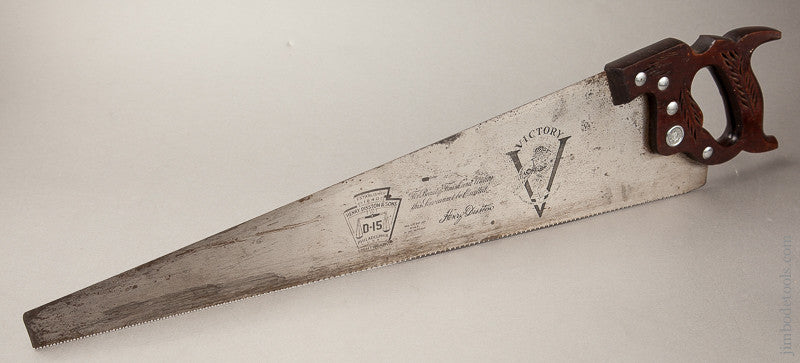 Just Sharpened! 11 point 26 inch Crosscut DISSTON D-15 Hand Saw