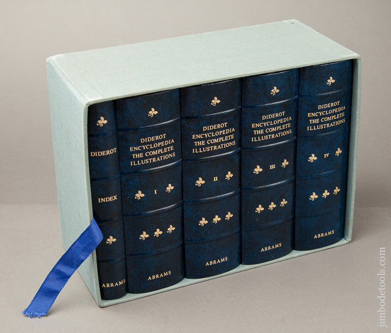 RARE Magnificent Set of Limited Edition Leather Bound Books:  DIDEROT THE COMPLETE ILLUSTRATIONS Boxed Set MINT