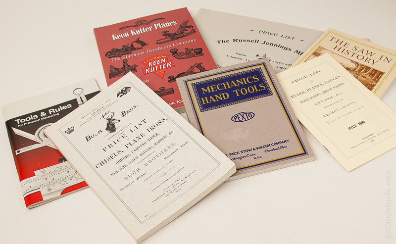 Assortment of 7 Tool Books, Reprints, and Catalogs