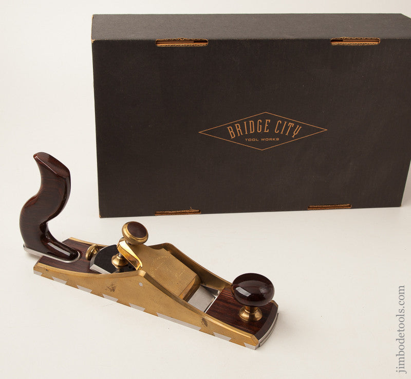 2003 BRIDGE CITY TOOL WORKS CT-11 Low Angle 12 Degree Smooth Plane UNUSED in Original Box