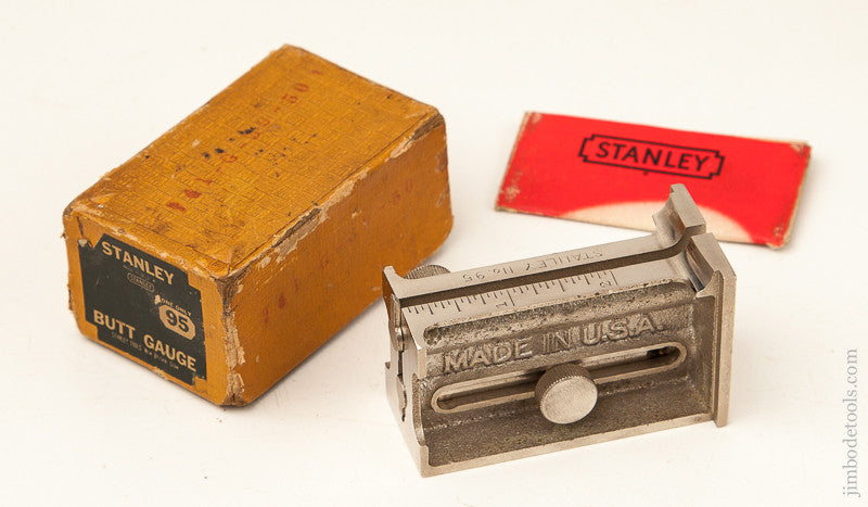 STANLEY NO. 95 Butt Gauge Mint in its Original Box
