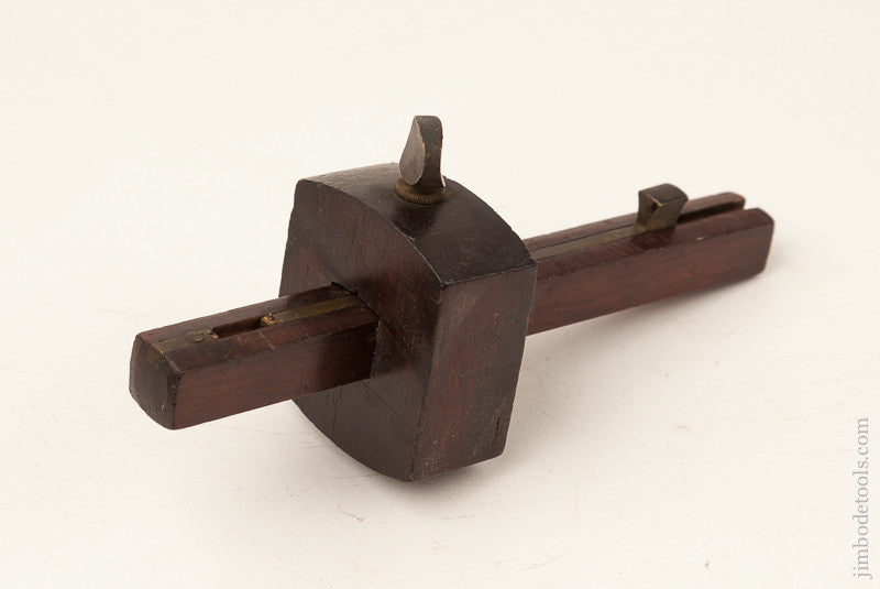 7 1/8 inch Rosewood and Brass Marking Gauge by S.S. NORTON
