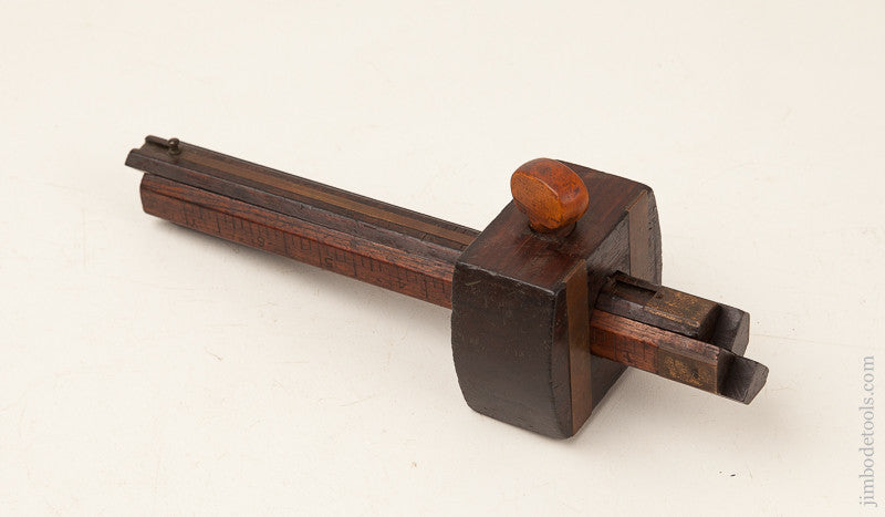 C. SHOLL March 8, 1864 Patent Four Stem Rosewood Marking Gauge