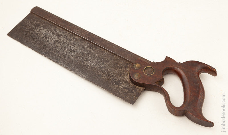 Just Sharpened! 13 point 12 inch Crosscut DISSTON Back Saw circa 1876-87