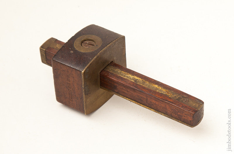Six inch Rosewood and Brass Mortise Gauge - 71804R