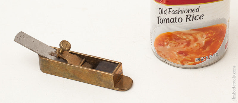 Miniature 3 1/8 inch Brass Mitre Plane by BOB HOWARD