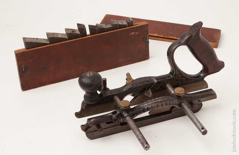 Fine STANLEY No  46 Skew Plow Plane with 11 Cutters Type 3 circa 1876-79 -  72559