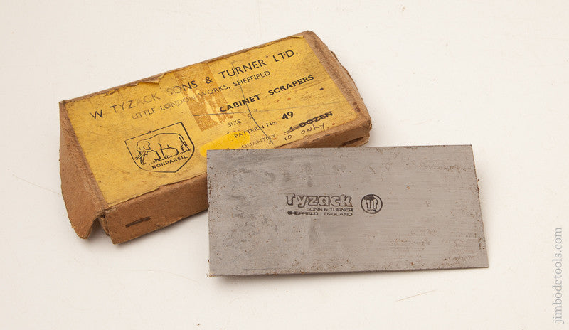 2 1/2 x 5 inch TYZACK Card Scraper in Original Box
