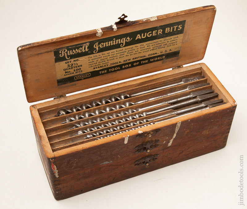 Complete Set of 13 RUSSELL JENNINGS Auger Bits in its Original 3 Tiered Box