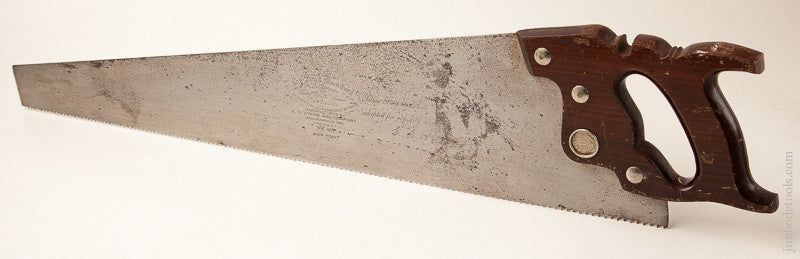 5 1/2 point 26 inch Rip ATKINS No. 401 THE FOUR HUNDRED Hand Saw with Rosewood Handle