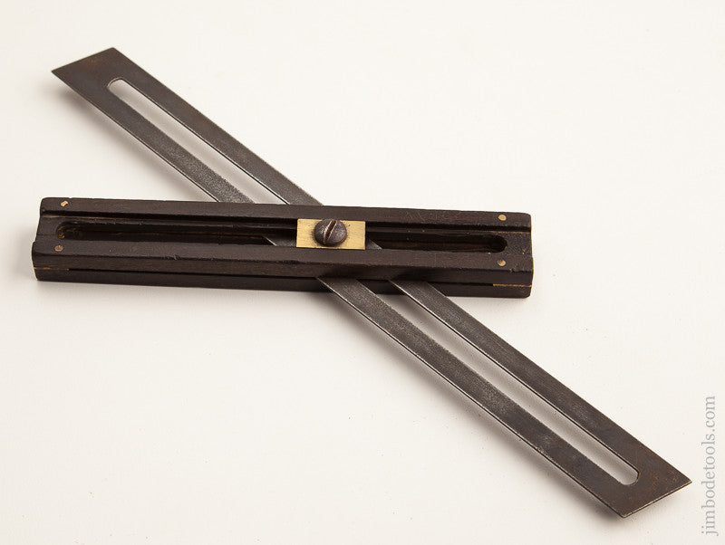 Unusual 12 inch Ebony Bevel